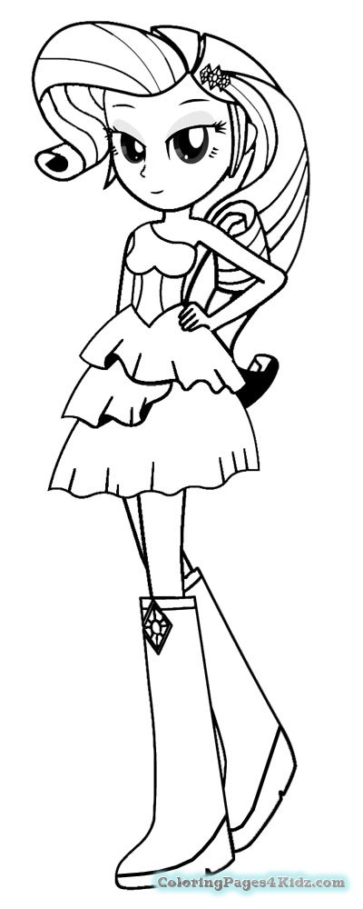 400x1000 Coloring Pages Of My Little Pony Equestria Girls Rarity Creation