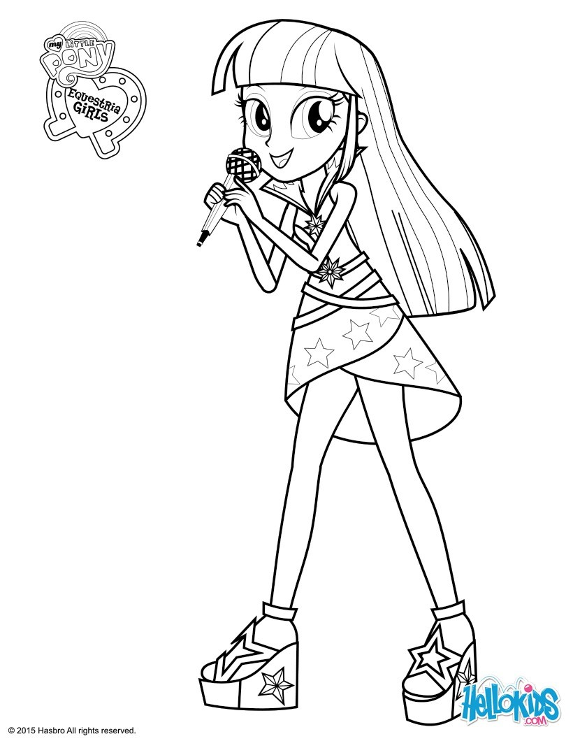 820x1060 My Little Pony Equestria Girls Twilight Coloring Pages