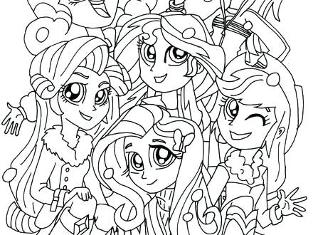 440x330 Elegant My Little Pony Equestria Girl Coloring Pages To Print