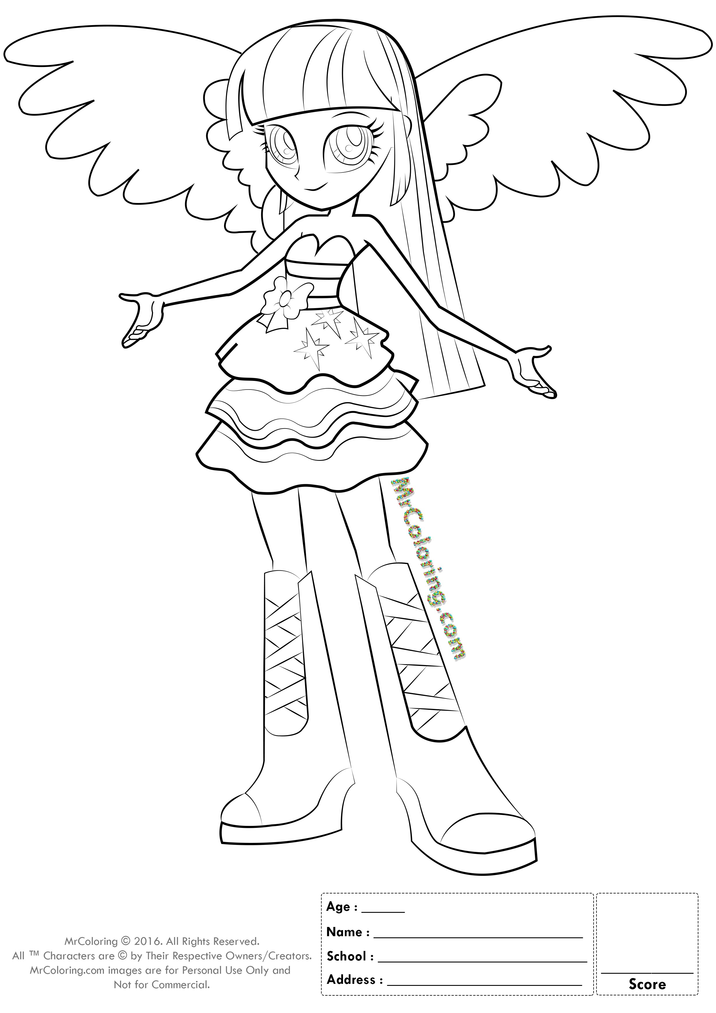 2480x3508 Equestria Girls Rainbow Rocks Coloring Pages Gallery