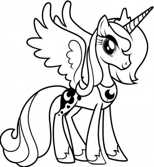 My Little Pony Friendship Is Magic Coloring Pages Luna