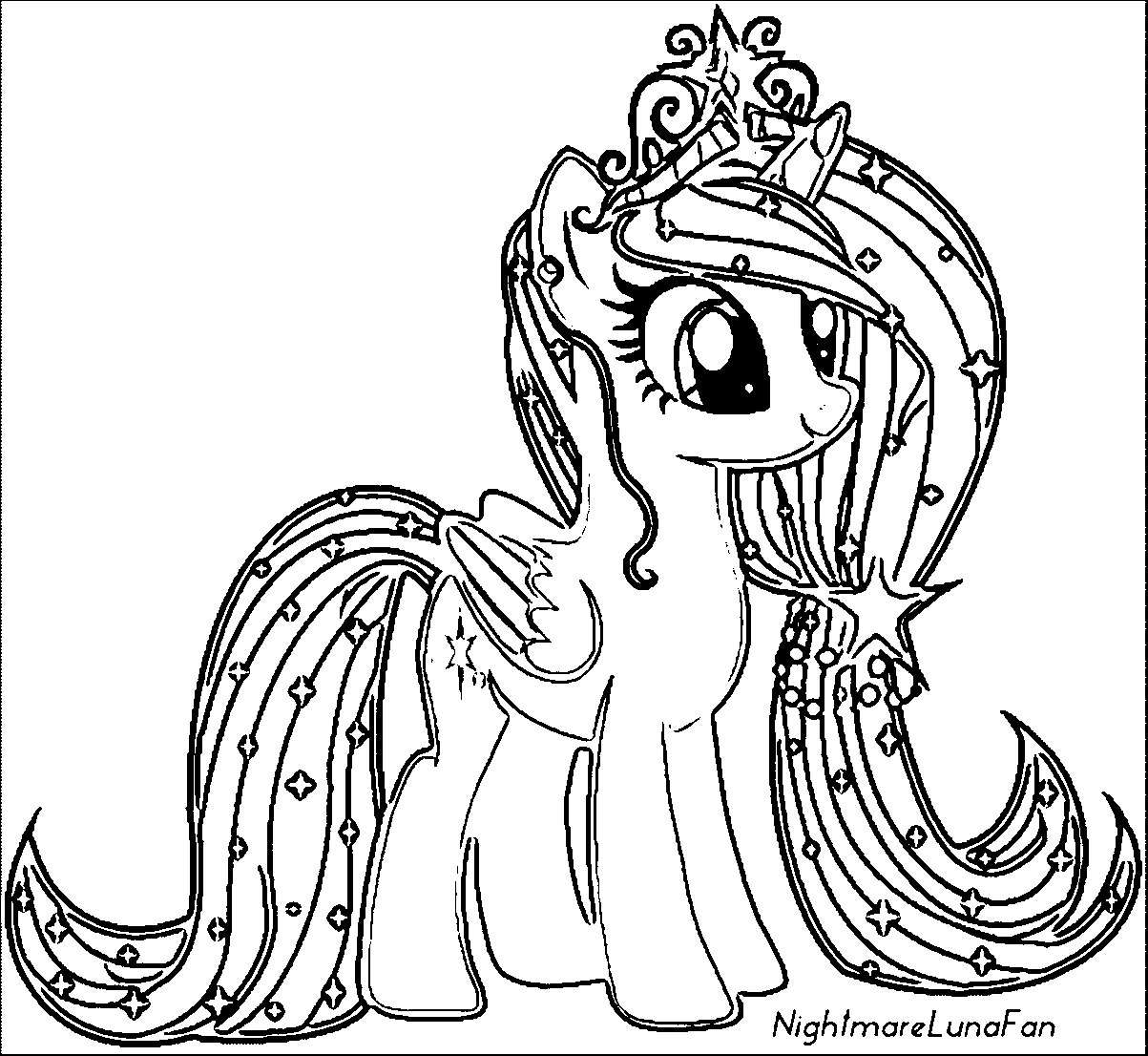 Printable My Little Pony Friendship Is Magic Princess Luna ... |My Little Pony Friendship Is Magic Coloring Pages Luna