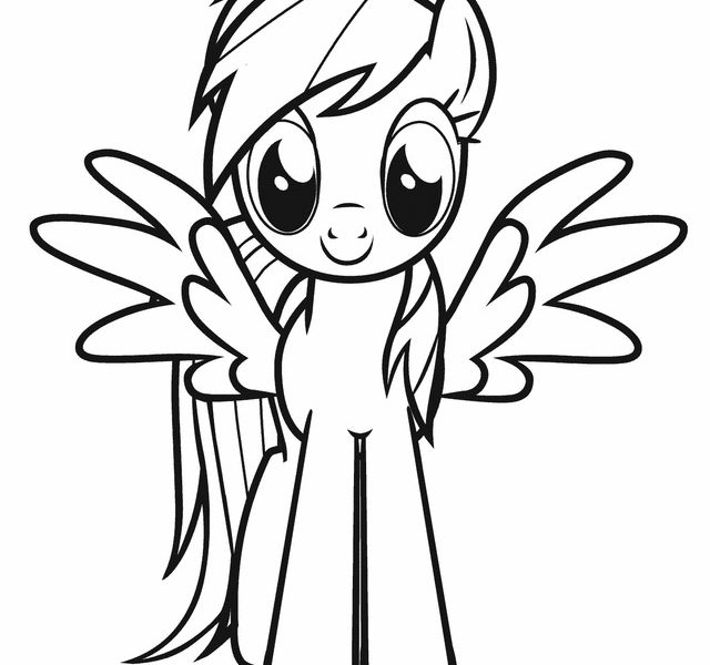 640x600 My Little Pony Pegasus Coloring Pages Free Coloring Page