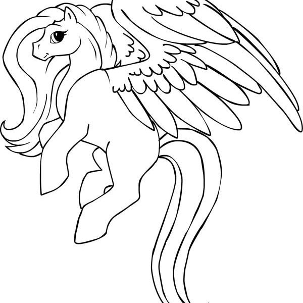 600x600 My Little Pony Pegasus Coloring Pages Lovely Pegasus Coloring Page
