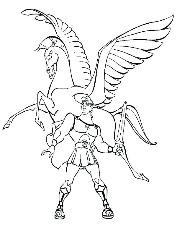 600x788 Pegasus Coloring Pages Cute Coloring Pages A Cute Pegasus Coloring