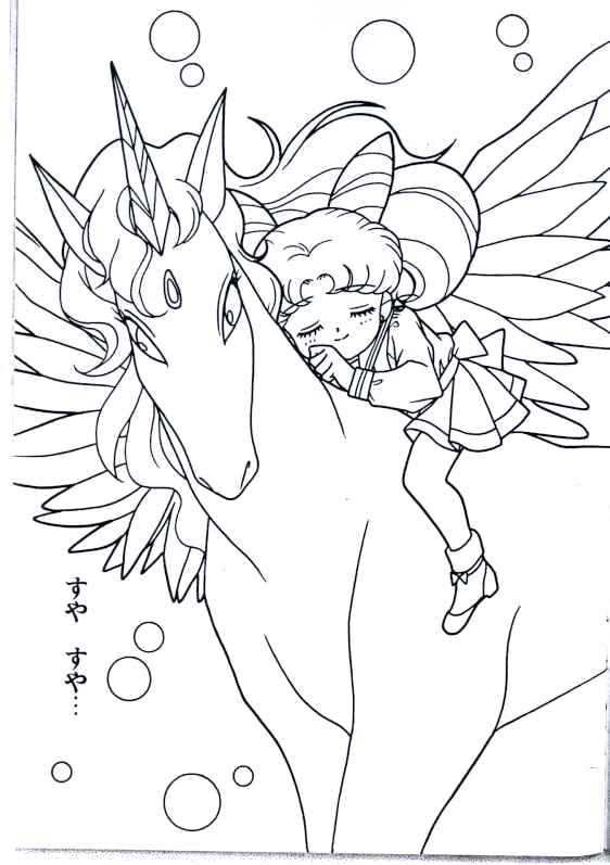 562x797 Pegasus Coloring Pages Moon And Line Art Sailor Moon Colouring