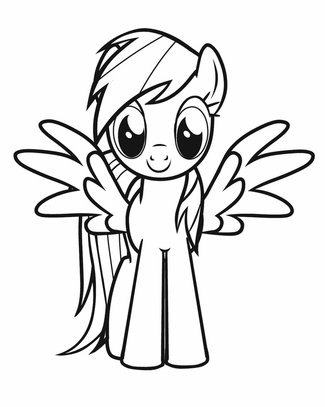 640x800 Kids Under My Little Pony Coloring Pages
