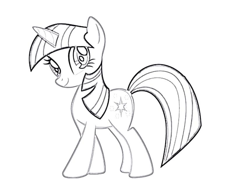 My Little Pony Princess Twilight Sparkle Coloring Pages