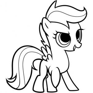 My Little Pony Scootaloo Coloring Pages At Getdrawings Com Free