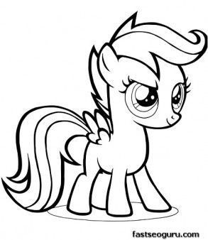 My Little Pony Sweetie Belle Coloring Pages - GetColoringPages.com | 338x293