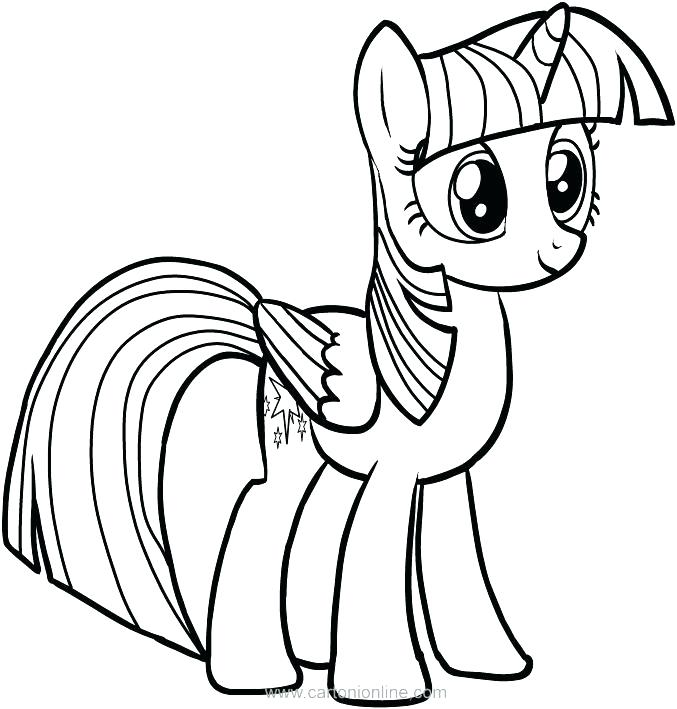 677x709 Pretty Pony Coloring Pages