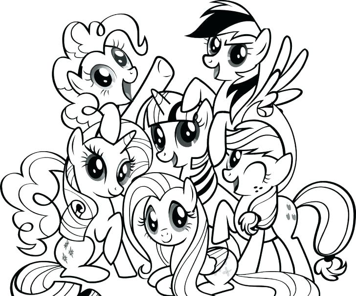 728x607 Coloring Pages Of Ponies My Little Pony Coloring Activity Book