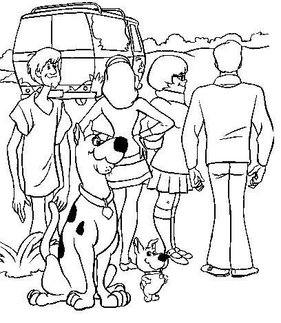 408x469 Mystery Machine Coloring Pages The Gang Withscrappy Doo Too
