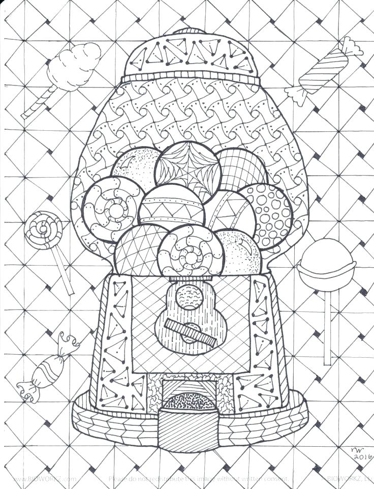 736x961 Mystery Pictures Coloring Pages Machine Coloring Pages Gumball