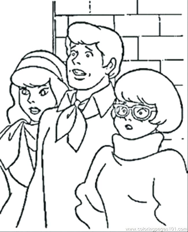 650x803 Scooby Doo Coloring Pages Mystery Machine Coloring Books Plus Good