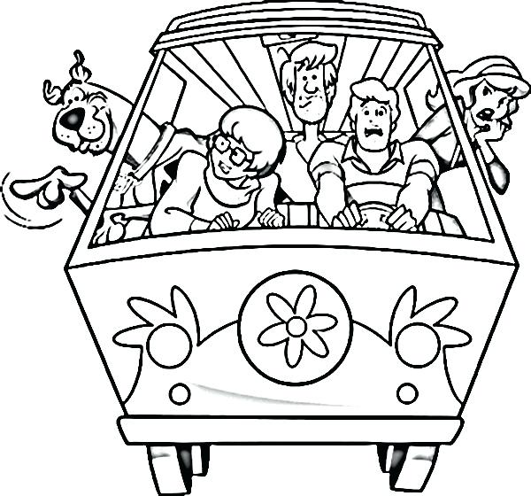 600x560 Coloring Pages Download Scooby Doo Free Print Murs