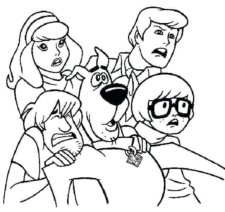 752x709 Coloring Pages Of Scooby Doo Coloring Pages Of Character Mystery