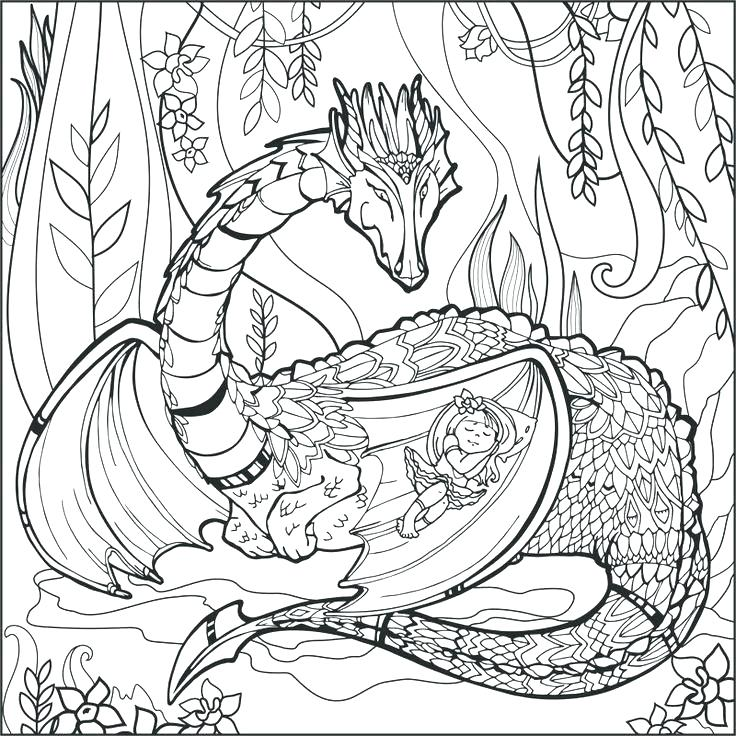 Free Free Coloring Pages Of Mythological Creatures, Download Free ... | 736x736