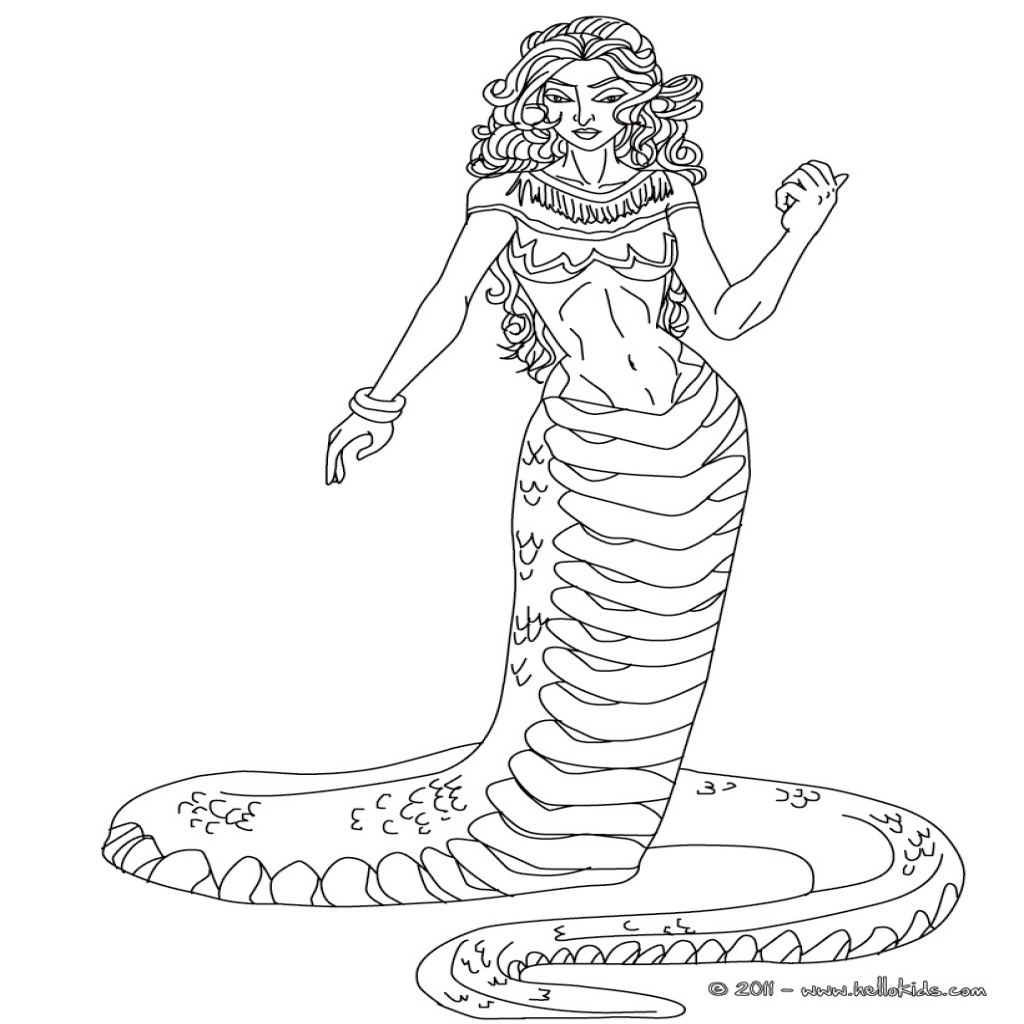 1024x1024 Medusa Coloring Pages Echidna The Half Woman And Half Snake