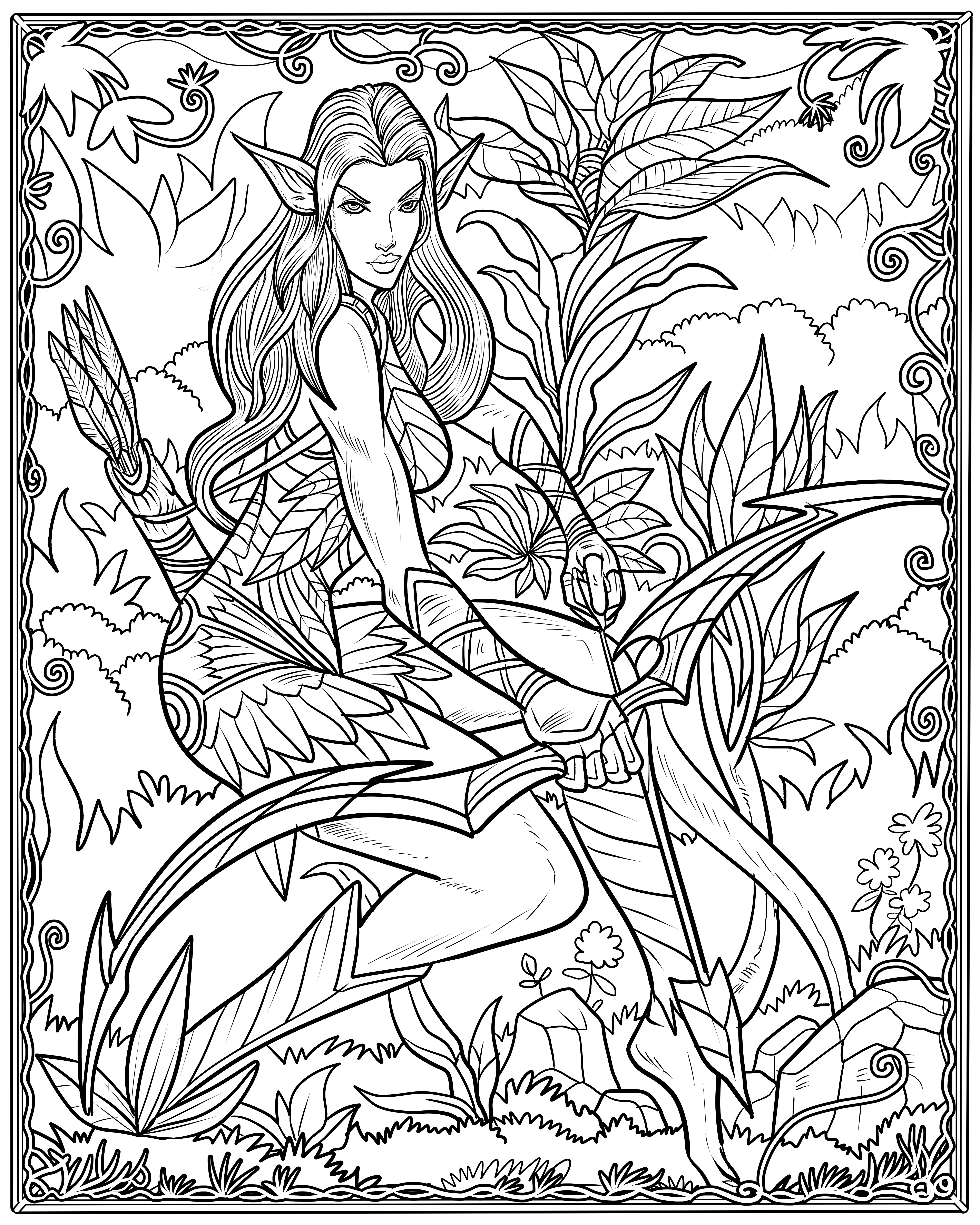 4800x6000 Mythical Creatures Coloring Pages Mythological Life Framed Pdf