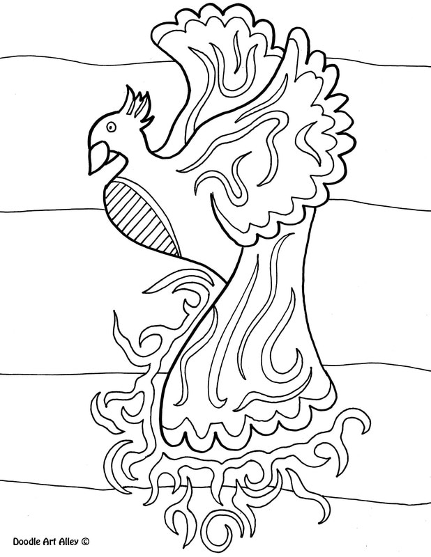 Mythological Creatures Coloring Pages