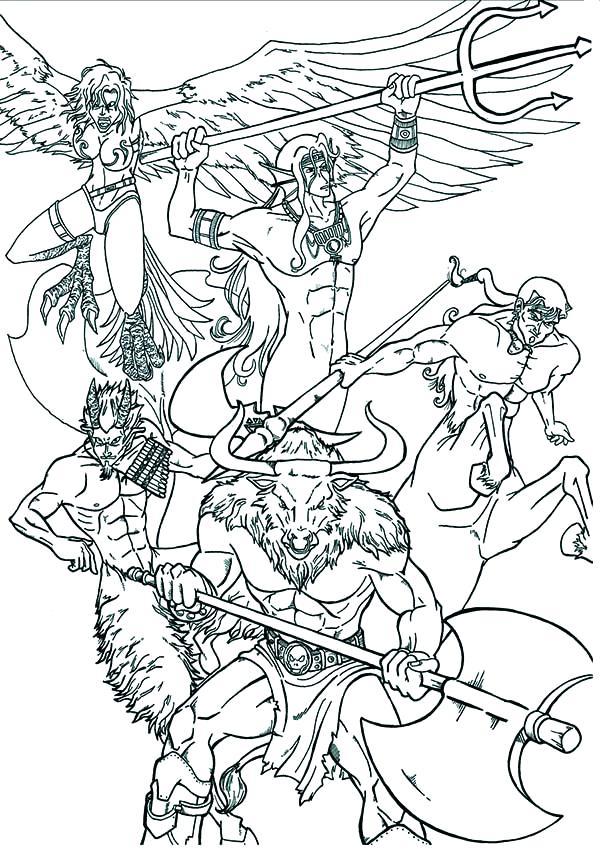 600x849 Greek Mythology Coloring Pages Greek Mythology Coloring Pages