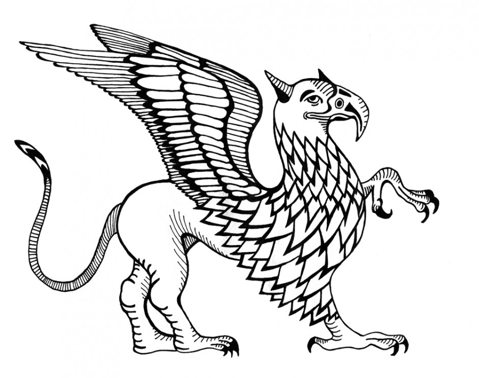 940x742 Griffin Greek Mythology Coloring Pages