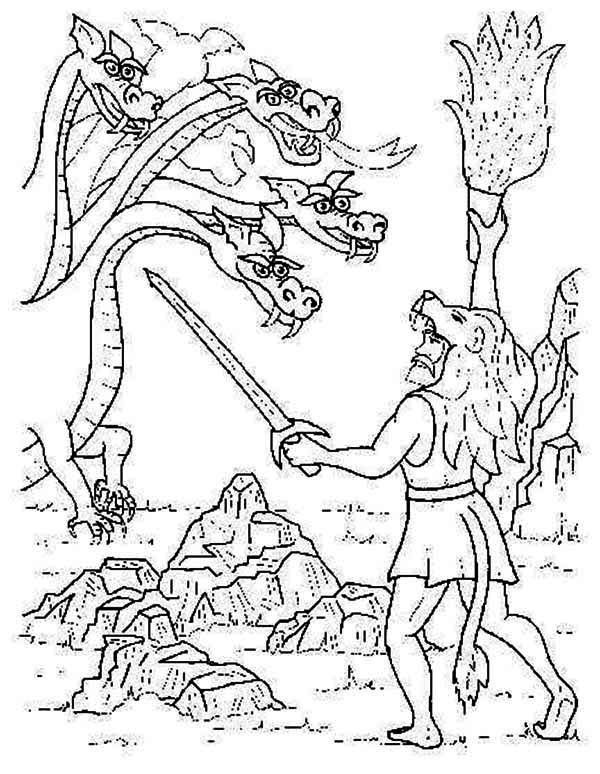 600x774 Hercules Greek Mythology Coloring Pages