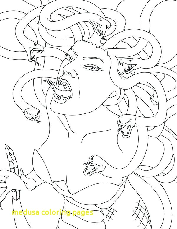 600x775 Medusa Coloring Pages With Greek Mythology Coloring Pages Medusa