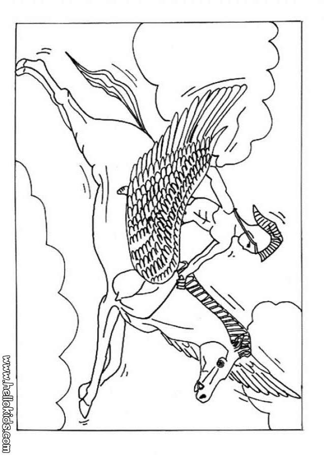 637x900 Pegasus, The Flying Horse Of Greek Mythology Coloring Pages