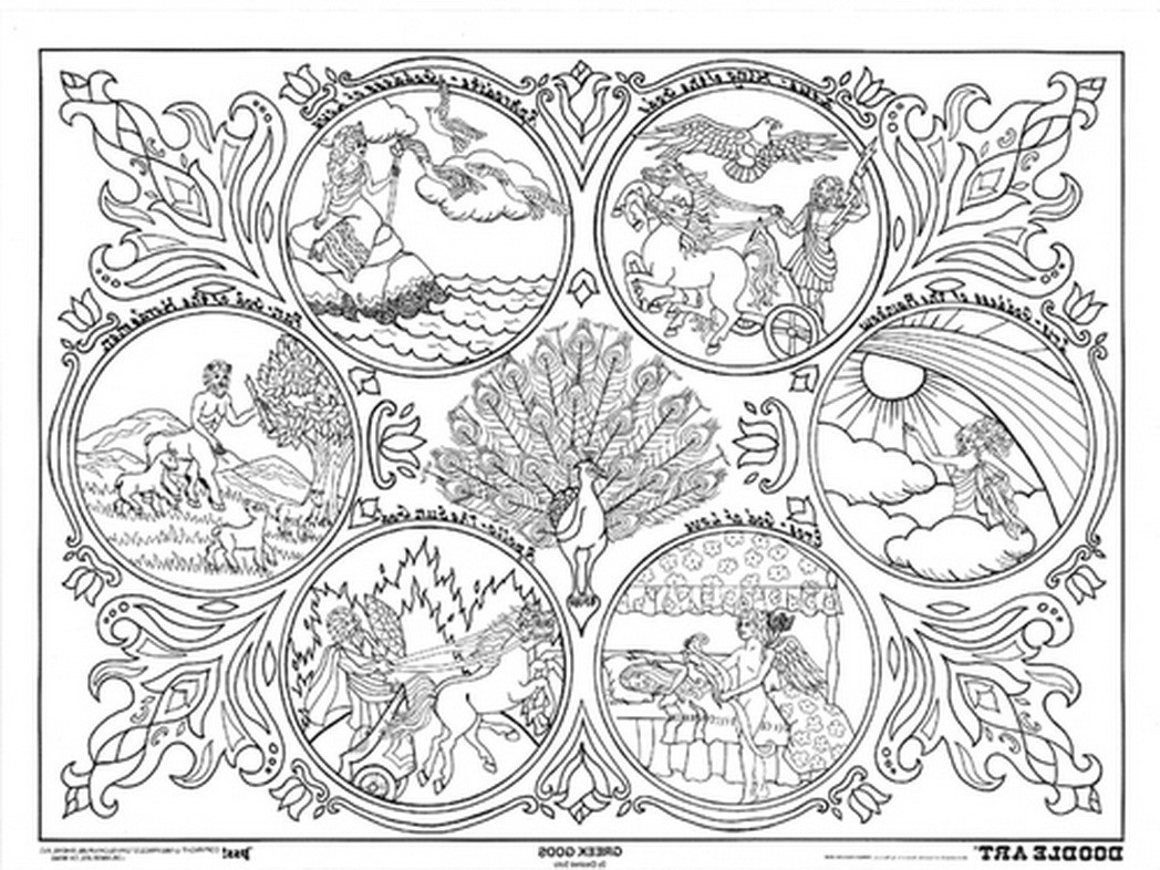 1048x786 Greek Mythology Coloring Pages Printable Fine Mythical Acpra