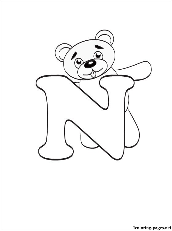 560x750 Letter N Coloring Page Coloring Pages