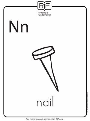 Nail Coloring Page