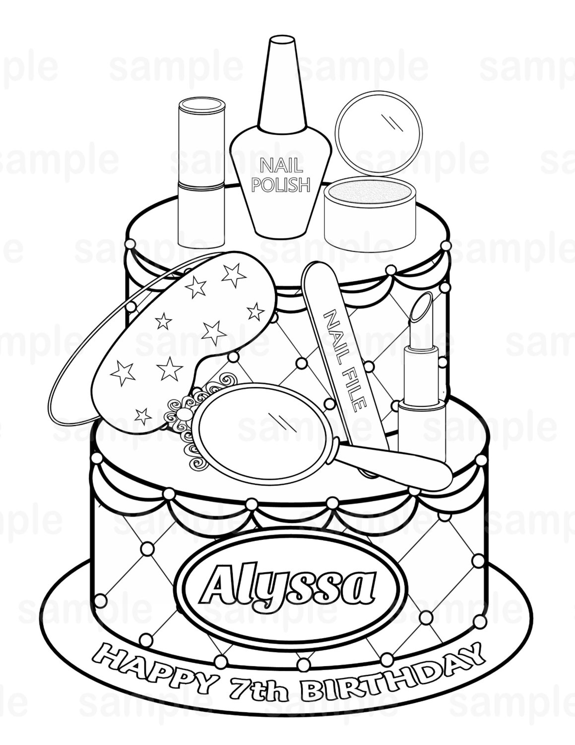 1159x1500 Best Nail Salon Coloring Pages Spa Themed Download And Print