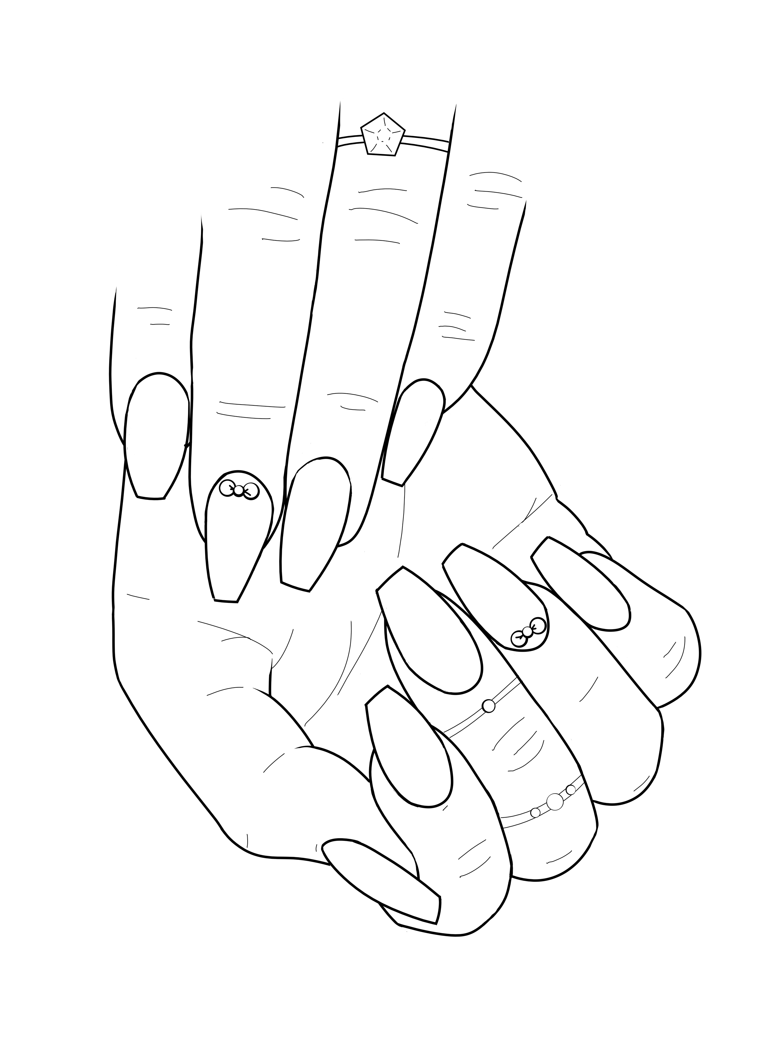 2600x3600 Coloring Page From The Nail Art Adult Coloring Book, Available