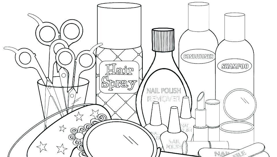 Nail Polish Coloring Pages At Getdrawings Free Download