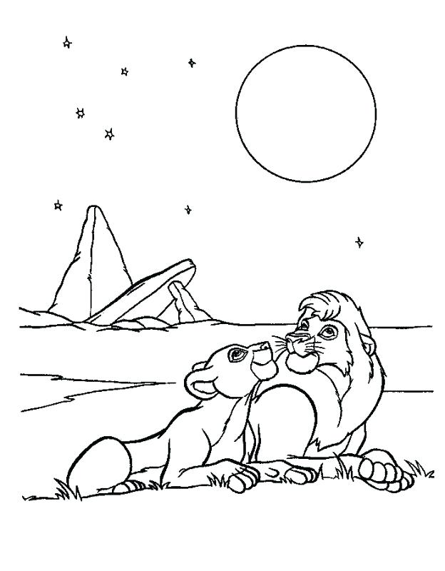 624x800 Nala Coloring Pages And Looking Up The Sky Coloring Page Lion King