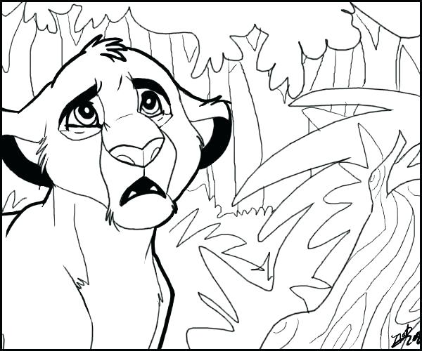 600x500 Simba And Nala Coloring Pages Coloring Page Coloring Pages Free
