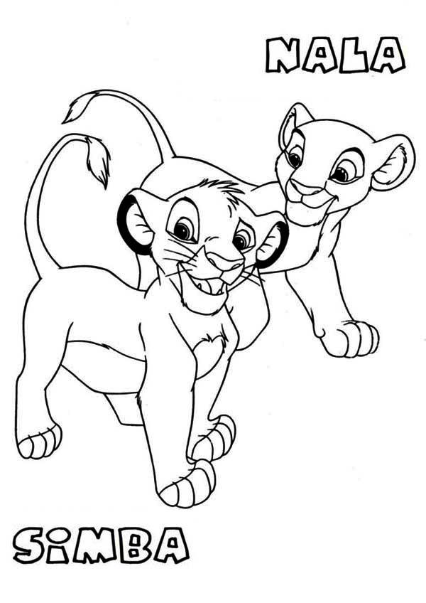 600x848 Awesome Simba And Nala Coloring Page