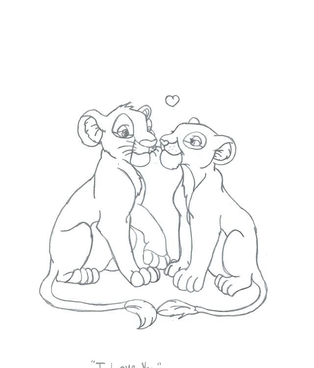 640x751 Simba And Nala Coloring Pages From The Lion King Coloring Page