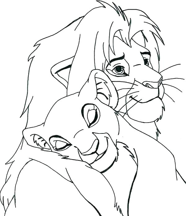 600x696 Nala Coloring Pages