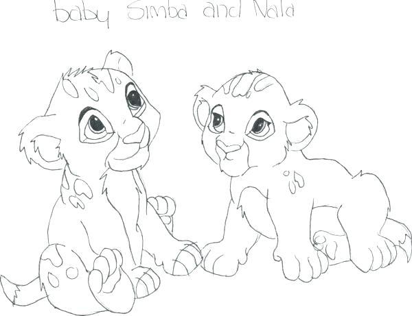 600x461 Baby Nala Coloring Pages Ba Nala Coloring Pages Nala Coloring