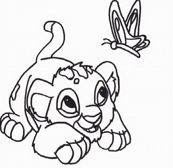 600x585 Baby Simba Coloring Pages