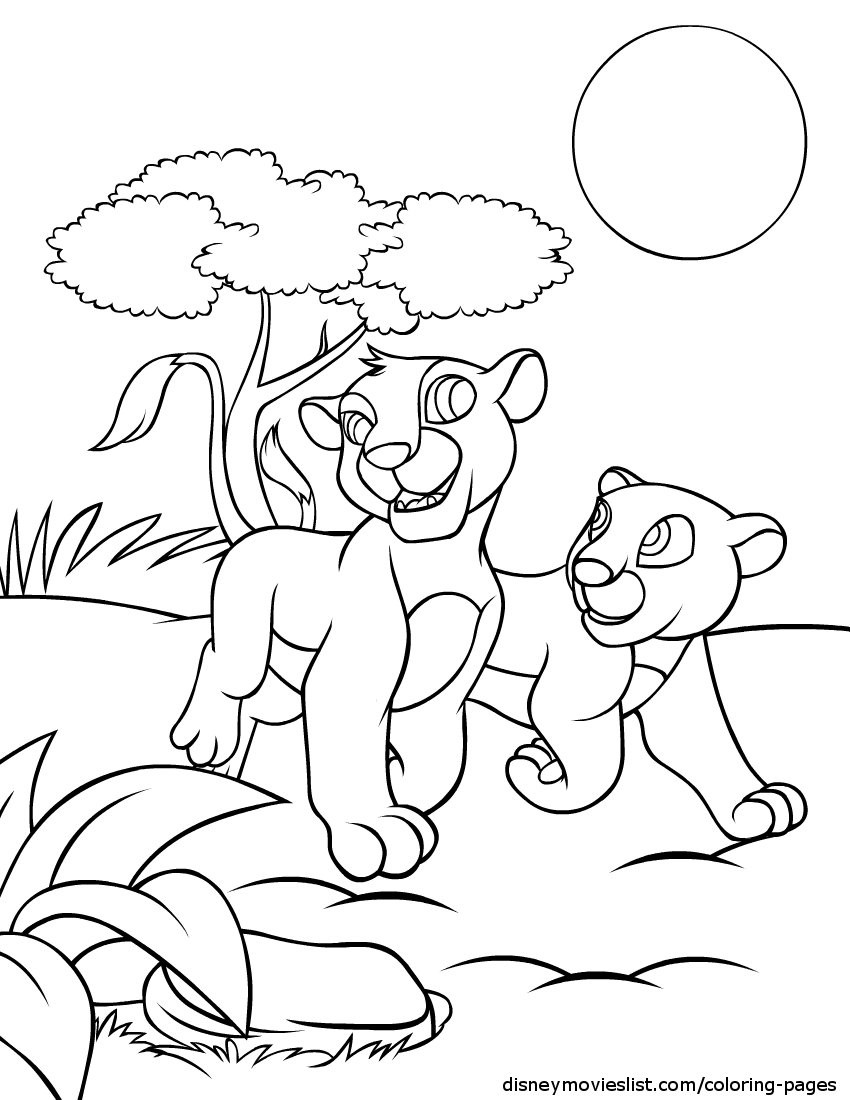 850x1100 Hanging Out Simba And Nala Free Coloring Page Animals Disney