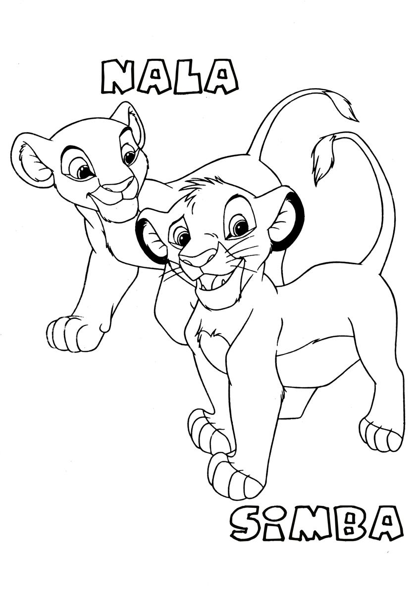 848x1200 Lion King Nala And Simba Free Coloring Page Animals, Disney