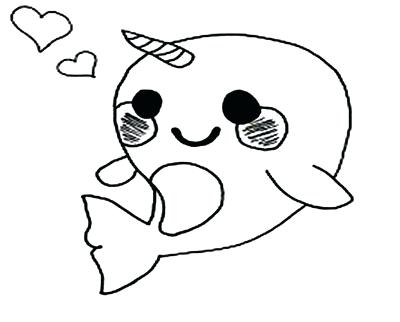 Narwhal Coloring Page at GetDrawings   Free download