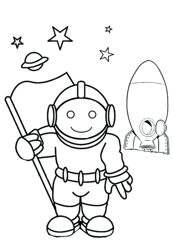 600x850 Astronaut Coloring Pages Free Online Astronaut Colouring Page Kids