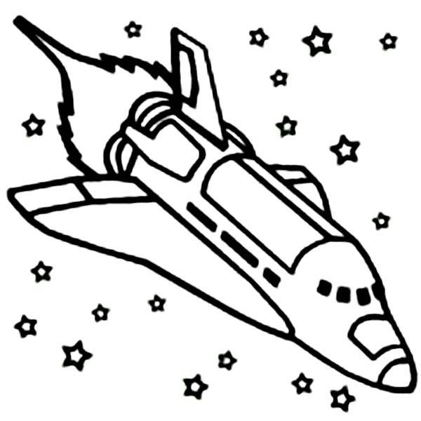 600x600 Space Shuttle Coloring Pages