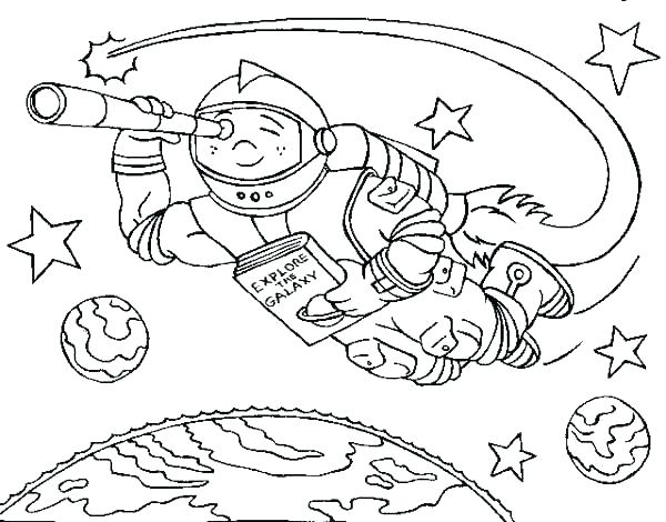 600x470 Rocket Coloring Pages