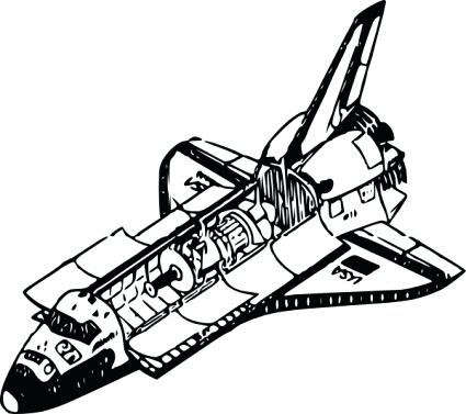 425x377 Space Shuttle Coloring